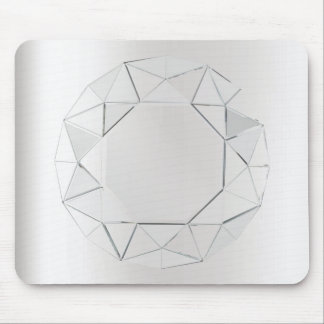 Minimal Black Gray Silver Geometry Crystal Mouse Pad