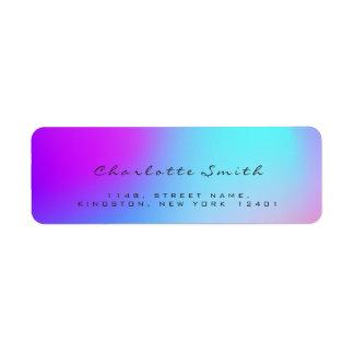 Minimal Black Ombre Pink Return Address Labels