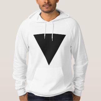Minimal Black Triangle Hoodie