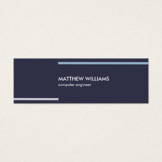 Minimal blue Navy stripes masculine elegant card