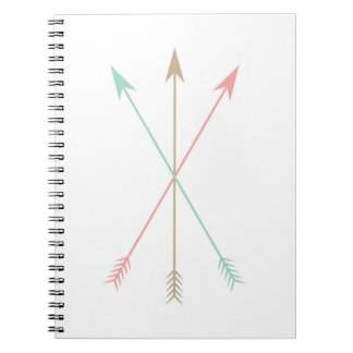 Minimal Colored Arrows Spiral Notebook