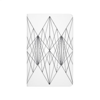 Minimal Crystal Geometric Pocket Journal