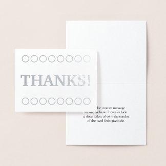 """Minimal, Custom and Simple """"THANKS!"""" Card"""