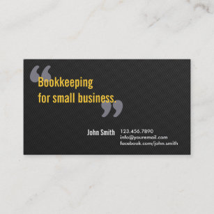 Bookkeeping service business cards profile cards zazzle ca minimal dark bookkeeping service business card reheart Images