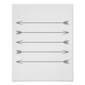 Minimal Dark Grey Arrows Poster