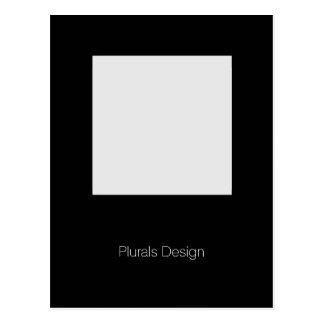 Minimal Design Photo Frame postcard