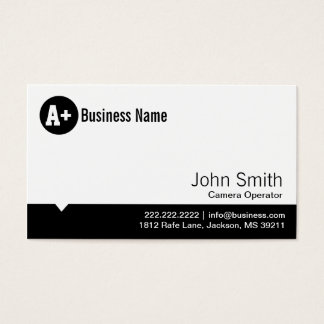 Minimal Dot Camera Operator Business Card