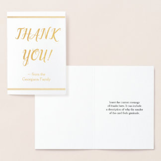 "Minimal, Elegant and Customized ""THANK YOU!"" Card"