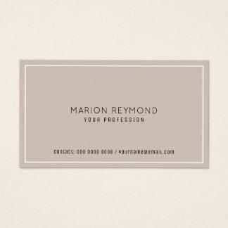 minimal elegant pale taupe professional business card