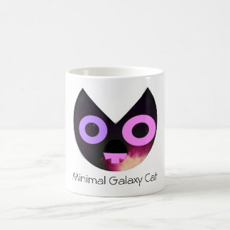 Minimal Galaxy Cat Coffee Mug