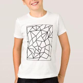 Minimal Geometric - Black Line T-Shirt