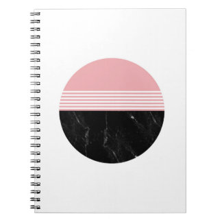 Minimal Geometric Marble Circle Notebook