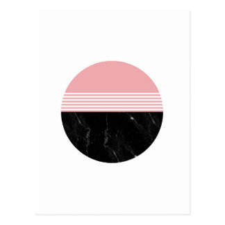 Minimal Geometric Marble Circle Postcard