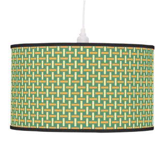 """Minimal Geometric Pattern - Japan """"Green Pastures"""" Hanging Lamps"""
