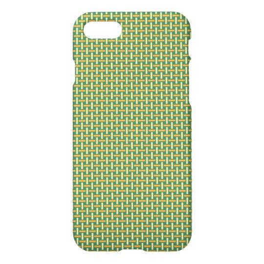 """Minimal Geometric Pattern - Japan """"Green Pastures"""" iPhone 7 Case"""
