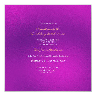 Minimal Glass Bright Pink Amethyst Purple Card