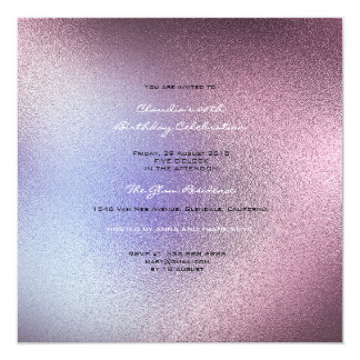 Minimal Glass Ombre  Pink Amethyst Purple Gray Card