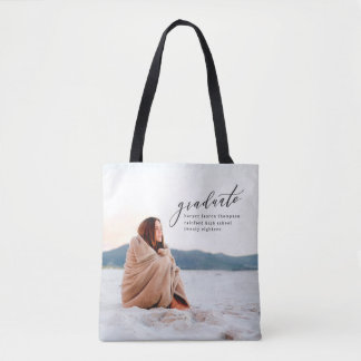 MINIMAL GRADUATION TOTE BAG
