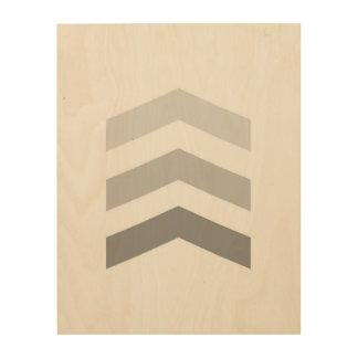 Minimal Gray Chevrons Wood Wall Art