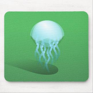 Minimal Jellyfish | Isometric Vector Art Mouse Pad
