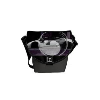 minimal lambo black Lyons design m Messenger Bag