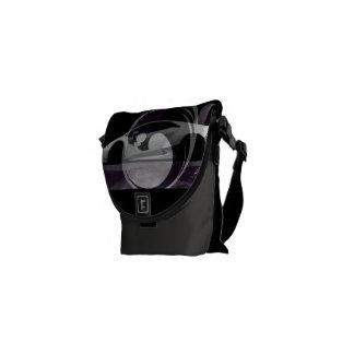 minimal lambo black Lyons design Messenger Bags