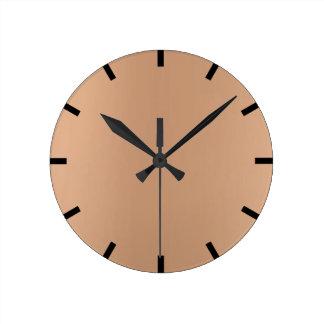 Minimal Lemon Skinny Brixs Ombre Black Urban Round Clock