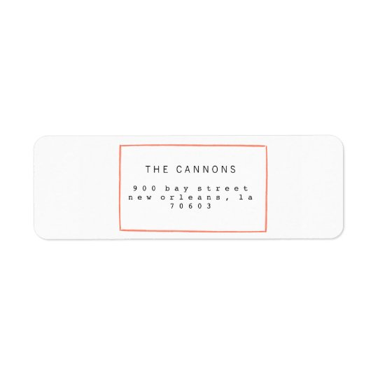 Minimal Lines Holiday Return Address Labels