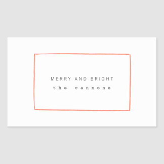 Minimal Lines Holiday Stickers