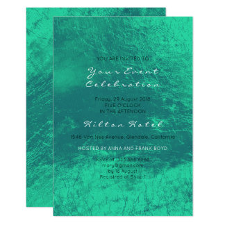 Minimal Metallic Emerald Green Minimal Glass Card