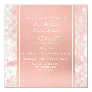 Minimal Metallic Pink Rose Gold Powder Brush Vip Card
