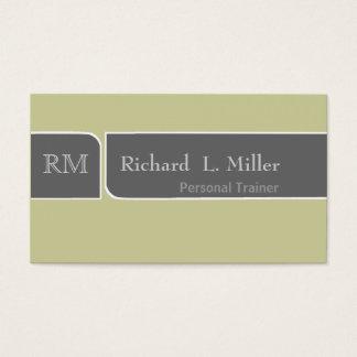 Minimal Middle Encounter Simple DIY Customization Business Card