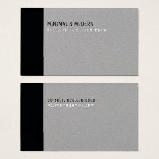 minimal & modern elegant black/gray business card