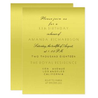 Minimal Mustard Lemon Ombre Bridal Shower Birthday Card