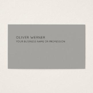 minimal of the minimalist elegant gray business card
