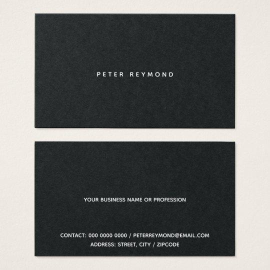 minimal of the minimalist style black business card