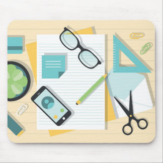 Minimal office stationery mousepad
