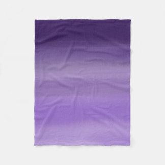 Minimal painted purple lavender ombre watercolor fleece blanket