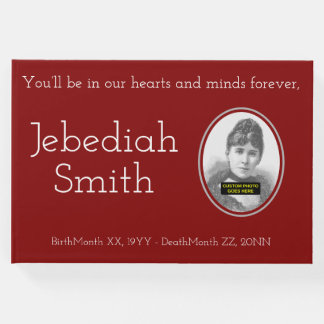 Minimal & Personalized Memorial Guestbook