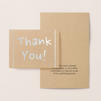 """Minimal, Personalized & Simple """"Thank You!"""" Card"""
