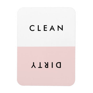Minimal Pink Dishwasher Clean or Dirty Magnet