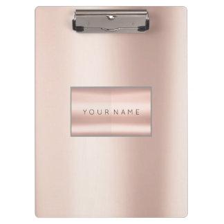 Minimal Pink Rose Gold Metallic Pearly Blush Clipboard