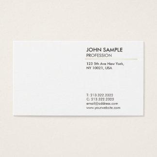 Minimal Plain Modern Professional Elegant White Business Card
