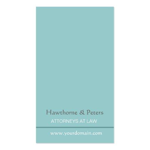 Minimal Plain  Professional Simplistic  Pale Blue Pack Of Standard Business Cards