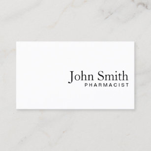 Pharmacist business cards profile cards zazzle ca minimal plain white pharmacist business card colourmoves