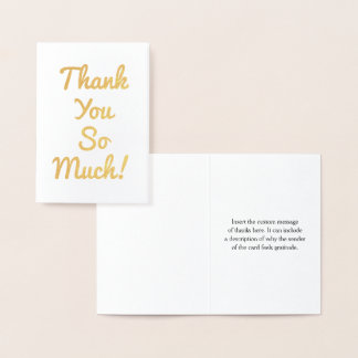 """Minimal, Simple """"Thank You So Much!"""" Card"""