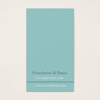 Minimal Sleek Simplistic Subtle Blue Striped Business Card