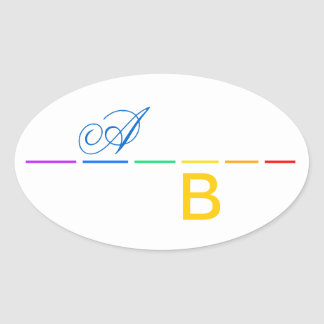 Minimal Statement Oval Sticker