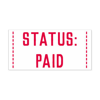 "Minimal ""STATUS: PAID"" Rubber Stamp"