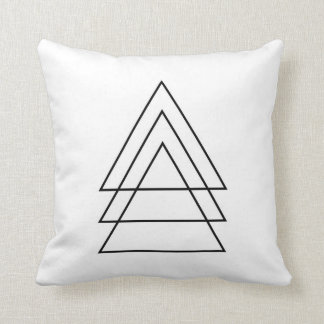 Minimal Trio Of Triangles Throw Pillow